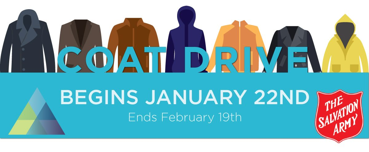Salvation army winter coat drive